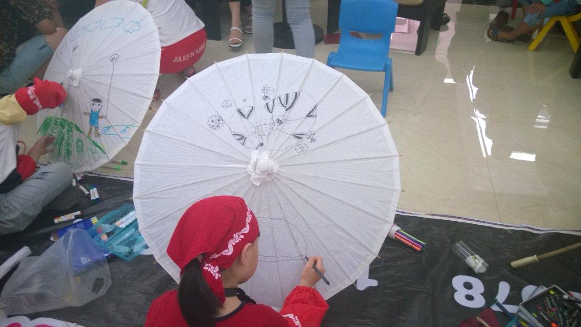 微山喜园油纸伞手绘活动,引爆盛夏假日